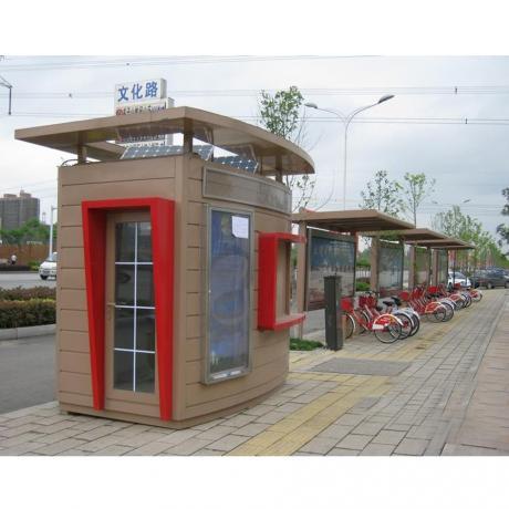 公共自行车亭 仿古公交站台 公交候车亭 不锈钢公共自行车亭