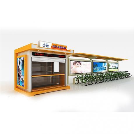 厂家定制公共自行车亭 太阳能不超过公共自行车亭 公交站台