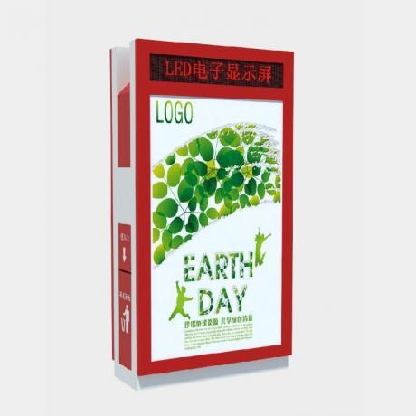 太阳能背靠背垃圾箱灯箱 LED滚动灯箱 青岛山东海南2016热销款