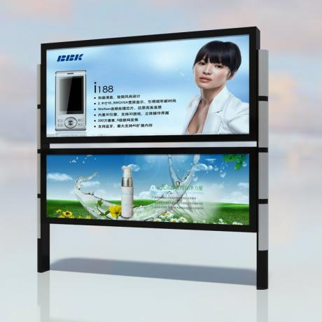 江西九江定制太阳能宣传栏 不锈钢宣传栏LED走字屏宣传栏